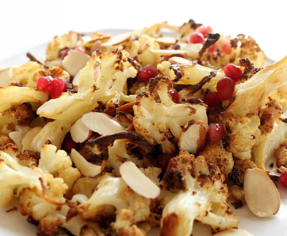 Roast Cauliflower & Pomegranate Salad