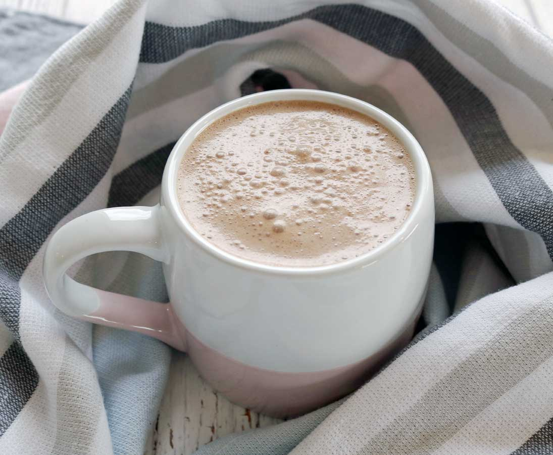 The Ultimate Healthy Hot Chocolate Recipe - Dairy free and rich with immune boosting ginger!
