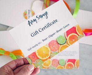nutrition gift voucher