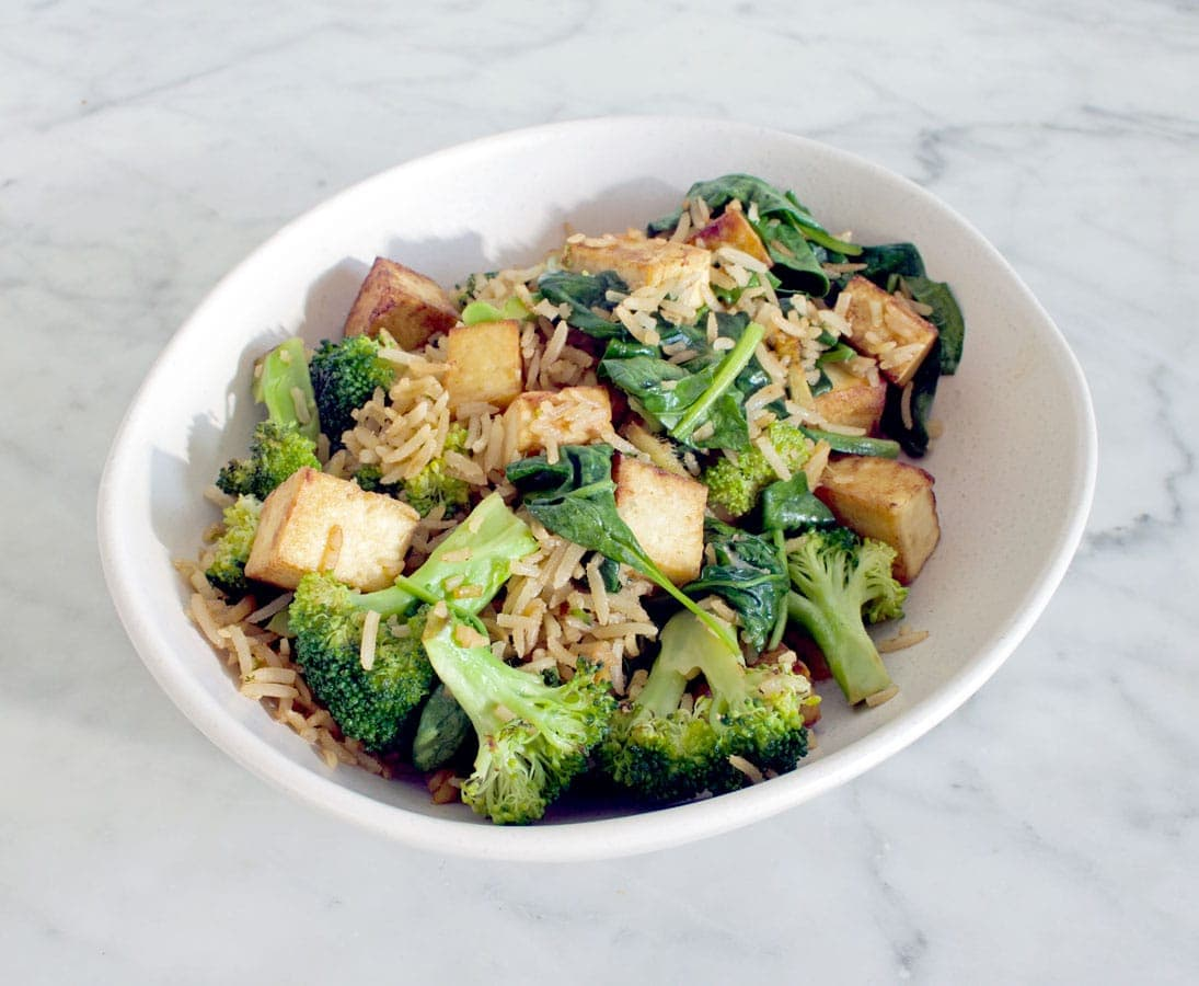 Tofu Sesame Soy Rice