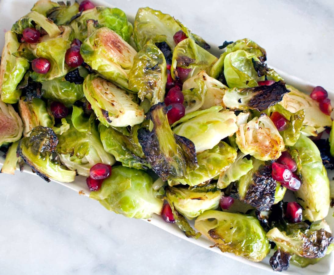 Lemon Roasted Brussels